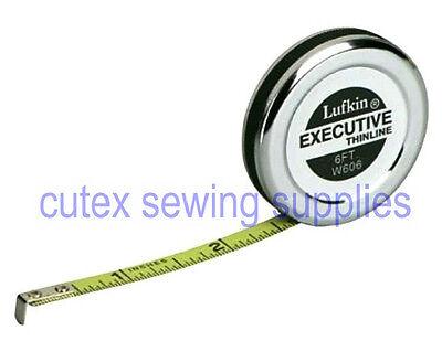 Lufkin W606 1/4 inch X 6 foot Executive Thinline Steel Pocket Tape Measure Rule