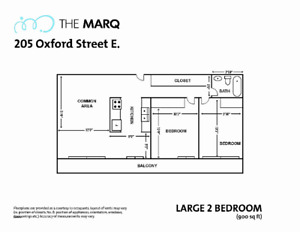 LEASE TAKEOVER - Downtown Two Bedroom Apartment for Rent