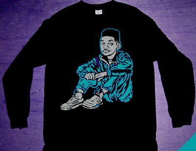 New Long Sleeve Will Warm Up shirt  grape fresh prince  tee NRG