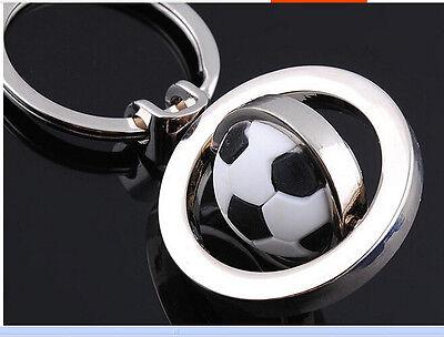 1Pcs Sports Rotating Football Soccer Keychain Keyring Key Chain Ring Gift New