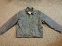 Brand new Arizona Jean Company Cafe Racer Faux Leather Motorcyle Jacket, Men's L
