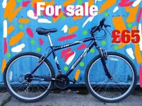 Shockwave XT580 gents mountain bike 18 gears 19 inch frame lightweight aluminium 26 inch wheels