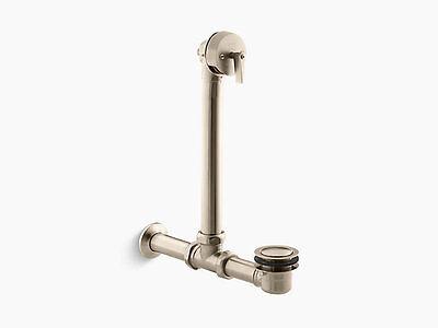 (Kohler Iron Works Exposed bath drain for above-the-floor installation K-7104-BV)