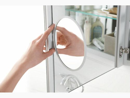 NEW Kohler 99009-NA aluminum medicine cabinet with adjustable magnifying mirror
