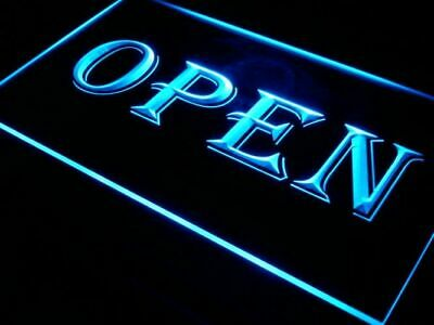Open Led Neon Light Sign Shop Cafe Bar Pub Business Business Ultra Animated Top