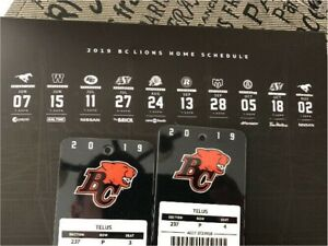 BC Lions Season tickets 2 $400