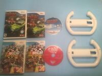 Wii 2 jeux Monster truck + Nascar Racing + 2 volants-35$