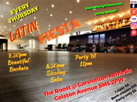 SALSA BACHATA LONDON CLASSES LESSONS CARSHALTON with SalsaPartyTime THURSDAYS @The Roost SM5 2PW