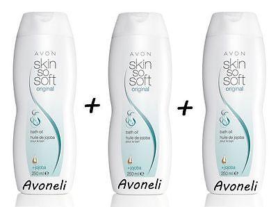 3x AVON SSS Skin So Soft & fresh Original Badeöl mit Jojobaöl Körperöl je 250ml