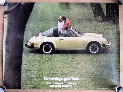 """org. Porsche Plakat Werbe Poster """"Der erste Porsche 911 SC"""" 1978 Porsche 911 SC"""