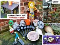 Sale!! 30 items for backyard