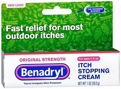 Benadryl Itch Stopping Cream Original Strength 1 oz (Pack of (Benadryl Itch Stopping Cream)
