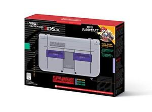 NEW 3DSXL SUPER NINTENDO EDITION+NEW AC ADAPTER SEALED UNOPENED