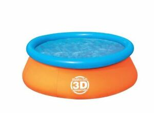 3D Fast Set Pool, 7-ft x 26-in