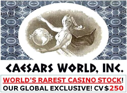 CAESARS WORLD CASINO STOCK in up to 3 COLORS! FREE SANDS CASINO w 3 CW! CV $200!