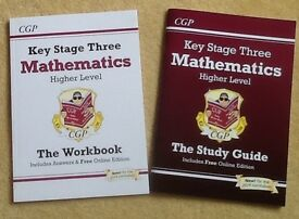 CGP Key Stage 3: Mathematics: Higher Level Study Guide & Workbook: As New