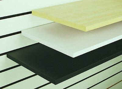 White Slatwall Gridwall Wood Melamine Shelf Use W Brackets - 12 X 24 - 8 Pcs