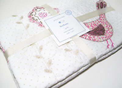 Pottery Barn Kids Organic Cotton Bethany Bird Floral Baby Toddler Quilt New
