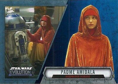 2016 Topps Star Wars Evolution Blue Lightsaber Parallel #14 Padme Amidala (Padme Lightsaber)