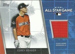 2017 Topps Update All Star Stitches Corey Seager Dodgers #ASR-CS
