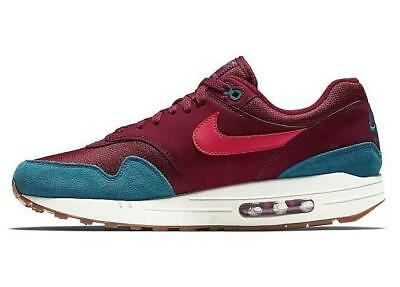 NIKE AIR MAX 1 AH8145 601 TEAM RED (MAROON)/RED ORBIT/GREEN ABYSS(TEAL)/GUM -
