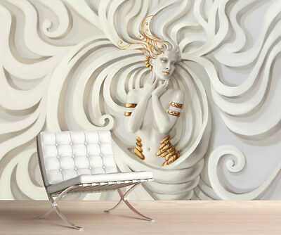 3D MEDUSA Wallpaper Wall Mural Picture Simply Peel and Stick Best Price! (Best Peel And Stick Wallpaper)