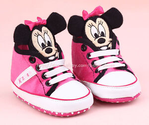 Newborn-Baby-Girl-3D-Minnie-Mouse-Crib-Shoes-Size-0-6-Months