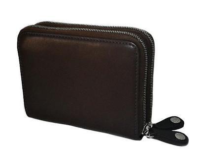 Around Glove - Coach Vtg Glove Tanned Choco Brown Leather Zip Around Sm Coin Purse Wallet RARE!