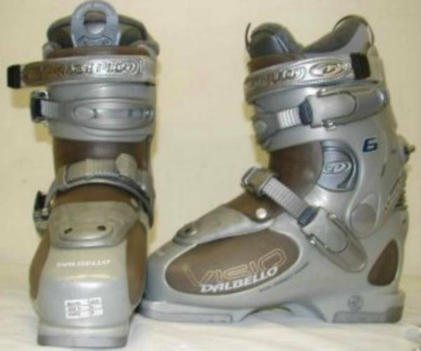 Dalbello Visio 6 Ladies Downhill Snow Ski Boots Silver Size 6.5 Mondo 24.0 NEW