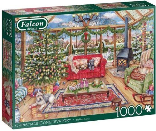 Jumbo 1000 Piece Jigsaw Puzzle - Christmas Conservatory
