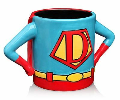 SUPERHERO COSTUME SUPER DAD CERAMIC MUG COFFEE TEA CUP OFFICE FATHERS DAY GIFT