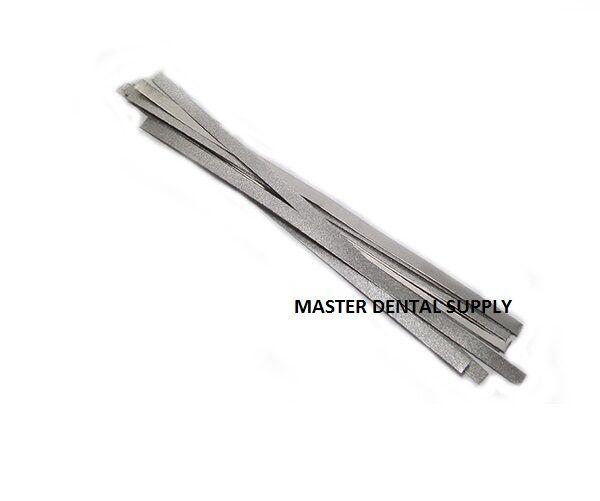 12 Dental Polishing Strips Metal INTERPROXIMAL IPR Orthodontics Single Side 4mm