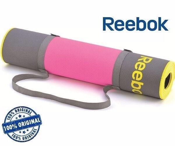 Reebok Premium Yoga Mat - Grey & Pink