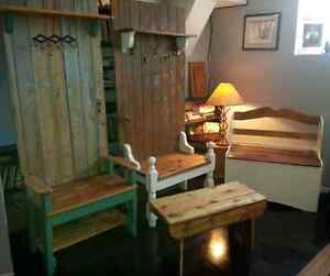 Rustic Hall Benches - Various Sizes and Styles Peterborough Peterborough Area image 1