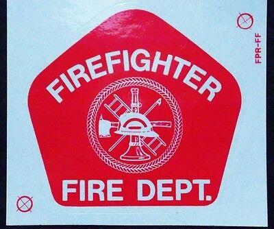Avery Firefighter - Fire Dept Vinyl Red Reflective Helmet Badge Decal Sticker