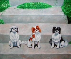 "Original New Oil Painting on Canvas Three Puppies 20""x24"""