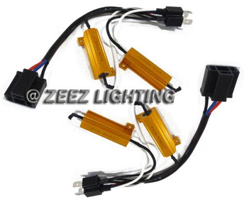 H4/9003 HID Resistor Decoder Anti-Flicker Bulb Out Error Free Warning Canceller