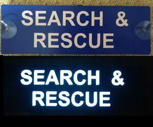 Search and Rescue Illuminated LED Visor Car Sign Mountain Coastguard Kit