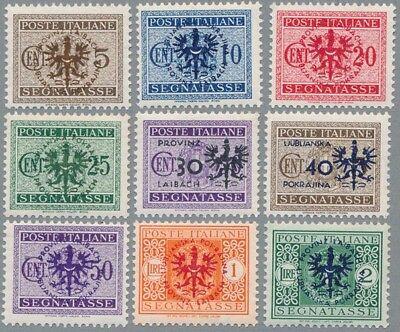 Laibach Portomarken Mi.Nr. 1-9 postfrisch, Fotobefund Brunel VP