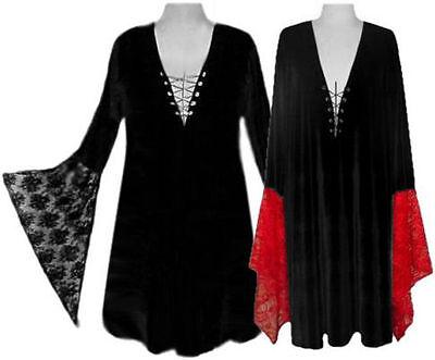 Sexy Lace-up Shirt Witch Gothic Costume L XL - Plus Size T Shirt Kostüme