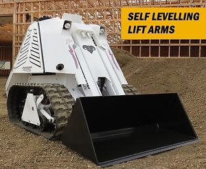 Mini Track Skid Steer Rental Landscaping Post Holes Trenching
