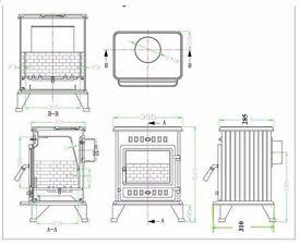 Wood burner 4.5 kW