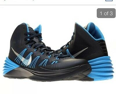 quality design 4e3d3 acacb Nike Womens Hyperdunk TB ( 599527-400) Shoes Silver plate Blue Size 13 New