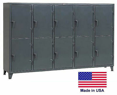 Personnel - Personal Locker Coml Industrial - 10 Lockers - 78 H X 24 D X 122 W