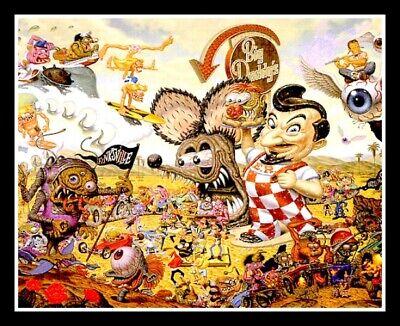 "4.25"" Psychedelic Mushroom Big Boy vinyl sticker. Trippy LSD, weed vision decal."
