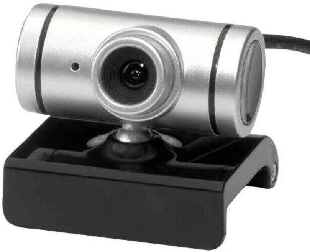 Webcam Ednet 300K, integriertes Mikrofon USB Silber 87206