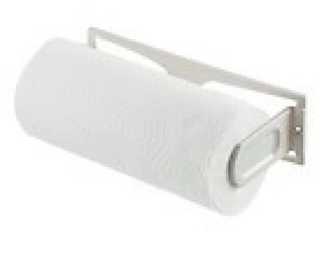 Paper Towel Holder White Plastic Under Counter Or Cabinet Mount New With  Screws