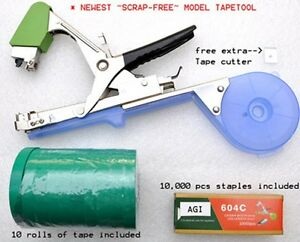 NURSERY ~PLANT TYING TAPETOOL TAPENER MACHINE~+10 rolls tape+staples+Extra Blade