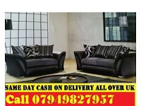 SHANNON CORNER SOFA & 3 AND 2 SEATER SOFA AVAILABLE IN GREY AND BLACK OR BROWN AND BEIGE COLOUR
