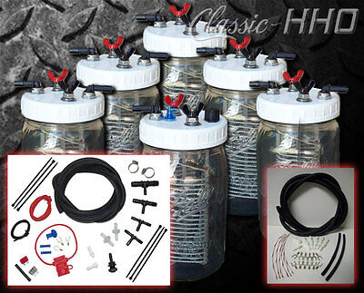 Classic-hho 6 Cell System W Premium Dual Supply Hook-up Kit Hydrogen Generator